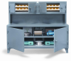 Cabinet Workstation w/ Upper Compartment -- 65-UC-301-28B - Image