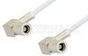 75 Ohm Mini SMB Plug Right Angle to 75 Ohm Mini SMB Plug Right Angle Cable 72 Inch Length Using 75 Ohm RG187 Coax, RoHS -- PE34696LF-72 -Image