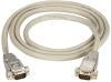 10-ft RS232 Shielded Cable Metal Hood DB9 Male/Male -- EDN12H-0010-MM - Image
