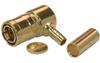 Mini 75 Ohm SMB Plug, Right Angle, Crimp Attachment For RG59 & RG62 -- 11-MSMB101 - Image