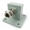 WR-112 to Type N Female Waveguide to Coax Adapter UBR84 Standard with 7.05 GHz to 10 GHz X Band in Aluminum -- SMW112ACN - Image