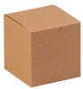 Case of 100 4 x 4 x 4 Kraft Gift Boxes Item# YGB444K -- YGB444K