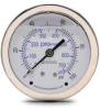 0-100 psi Liquid filled Pressure Gauge with 2.5 inch mechanical dial -- G25-SL100-4CS - Image