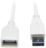 Universal Reversible USB 2.0 Hi-Speed Extension Cable (Reversible A to A M/F), White, 6-ft. -- UR024-006-WH