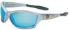 HD1000 Series Safety Eyewear > FRAME - Silver > LENS - Blue mirror > UOM - Each -- HD1000