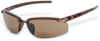 1.25 Reader Safety Glasses: ANSI Z87+, brown lens, brown 1/2 frame -- SG-2911712 - Image