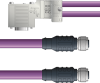 LAPP UNITRONIC® PROFIBUS® D-Sub Y-Cordset to Node Module - 5 positions female M12 straight and 5 positions female M12 straight to 9 positions D-sub node - Violet Polyurethane (PUR) - Cont... -- OLFPB4110110F01 -Image