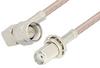 SMA Male Right Angle to SMA Female Bulkhead Cable 18 Inch Length Using RG316 Coax -- PE3836-18 -Image