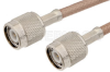 TNC Male to TNC Male Cable 48 Inch Length Using RG400 Coax, RoHS -- PE3608LF-48 -Image