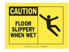 Alert Sign Plastic FLOOR SLIPPERY WHEN WET W/PICTO -- 75447321713-1