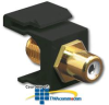 ICC RCA Female to F-Type Female Modular Connector -- IC107BFG