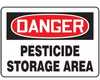 MCAW109VA - Safety Sign, Danger - Pesticide Storage Area, 10