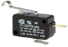 MICRO SWITCH V7 Series Miniature Basic Switch, Single Pole Normally Closed Circuitry, 11 A at 277 Vac, Simulated Roller Lever Actuator, 0,93 N [3.4 oz] Maximum Operating Force, Silver Contacts, Quick -- V7-1B37D8-263 -Image