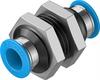 QSS-10 Push-in bulkhead connector -- 153160