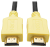 High-Speed HDMI Cable with Digital Video and Audio, Ultra HD 4K x 2K (M/M), Yellow, 3 ft. -- P568-003-YW -- View Larger Image
