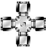 Dk-Lok® Union Cross -- DX-1 - Image