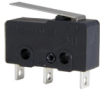 ZM1 Series, Subminiature Basic Switch, SPDT, 10.1 A, 125/250 Vac, Short Straight Lever, Solder Termination -- ZM190C10B01 -Image