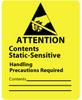 "Static Awareness ""Contents Static-Sensitive"", 1-7/8 x 2-1/2"" -- #TM7102 -- View Larger Image"