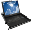 Commercial-grade, Low Profile, Rack Mount, Flip-up LCD Monitor with Integral Keyboard and Pointing Device - Image