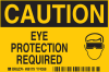Brady Rectangle Yellow Personal Protection Equipment (PPE) Sign - TEXT: CAUTION EYE PROTECTION REQUIRED - 86179 -- 754473-86179