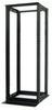 31U 4 Post BLACK Aluminum Relay/Open Rack -- CLM-2252-31B