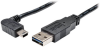 Universal Reversible USB 2.0 Cable (Reversible A to Right-Angle 5Pin Mini B M/M), 3-ft. -- UR030-003-RAB - Image