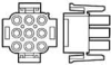 Pin & Socket Connectors -- 1-480708-4 -Image