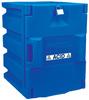 Justrite 4 L Blue Hazardous Material Storage Cabinet - 14 1/4 in Width - 19 1/2 in Height - Bench Top - 697841-04092 -- 697841-04092