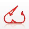Pinch Clamp, Red -- 13601 -Image