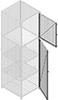 Wire Mesh Industrial Storage Lockers