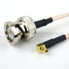 BNC Male to RA MMCX Plug Cable RG-316 Coax in 60 Inch -- FMC0819315-60 -Image
