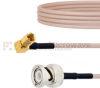 BNC Male to RA SSMC Plug Cable RG316 Coax in 6 Inch -- FMCA1473-6 -Image