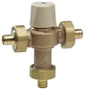 Mixing Valve,LF Brass,1/2 In PEX,80-120F -- 5DMF7