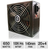 DiabloTek PHD650 ATX Power Supply - 650W, 140mm Fan, 20+4 Pi -- PHD650