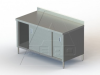 "TSBOD Series, Stainless Steel Cabinet with 4"" Backsplash NSF Listed -- 3TSBOD-30120-D - Image"