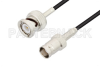 BNC Male to BNC Female Cable 60 Inch Length Using RG174 Coax -- PE3C3325-60 -Image
