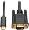 USB 3.1 Gen 1 USB-C to VGA Adapter Cable (M/M), Thunderbolt 3 Compatible, 1920 x 1200 (1080p), 6 ft. -- U444-006-V