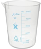 Azlon Plastic (PMP) Low Form Tapered Graduated Beaker, M - Image