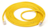 CAT5 100-MHz Economy Patch Cable, 24 AWG, RJ-45, 4-Pair, PVC, T568B, Straight-Pinning, Yellow, 15-ft. (4.5-m) -- EVNSL04-0015 - Image