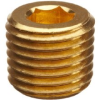 Parker Brass Pipe Fitting, Hollow Hex Plug, NPT Male