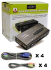 4-Port Linkskey Slim Palmtop PS/2 Audio & Mic KVM Switch w/ Cables -- LKV-S04ASK