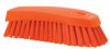 scrub brush w/stiff bristle orange -- 61991 -- View Larger Image