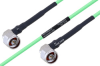 Temperature Conditioned N Male Right Angle to N Male Right Angle Low Loss Cable 24 Inch Length Using PE-P160LL Coax -- PE3M0224-24 -Image