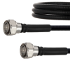 Outdoor Rated Low PIM 4.3-10 Male to 4.3-10 Male Cable SPO-375 Coax in 48 Inch Using Times Microwave Parts and RoHS -- FMCA2058-48 -Image