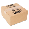 100% Recycled Mailing Storage Box, 8 x 8 x 4, Brown, 12/Pack -- 1143553 - Image