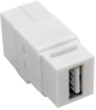 USB 2.0 All-in-One Keystone/Panel Mount Coupler (F/F), White -- U060-000-KP-WH