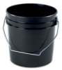 1 and 2 Gallon Black Plastic Pails -- 3537 - Image