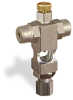 """(Formerly B1629-12X-HN), Cross Small Sight Feed Valve, 1/4"""" Male NPT Inlet, 1/4"""" OD Tube Outlet, Handwheel -- B1628-245B1HW -- View Larger Image"""