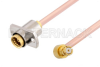Slide-On BMA Jack 2 Hole Flange to SMP Female Right Angle Cable 24 Inch Length Using RG405 Coax -- PE3C4897-24 -- View Larger Image