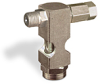 "(Formerly B1630-4X-TP), Inverted Angle Small Sight Feed Valve, 1/8"" Male NPT Inlet, 1/8"" Female NPT Outlet, Tamperproof -- B1628-321B1TW -- View Larger Image"